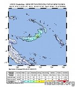 Strong and shallow M6.3 earthquake hits New Britain, Papua New Guinea