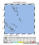 M6.4 earthquake hits Vanuatu at intermediate depth