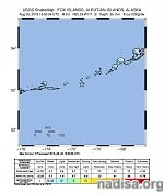 Shallow M6.0 earthquake hit Fox Islands, Aleutian Islands, Alaska