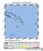 Strong M6.5 earthquake hits Solomon Islands