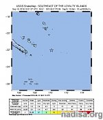 Strong and shallow M6.1 earthquake hit southeast of Loyalty Islands