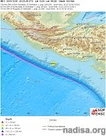 Strong and shallow M6.1 earthquake hits off the coast of El Salvador