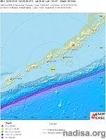 Shallow M6.1 earthquake hits off the coast of Cold Bay, Alaska