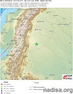 Very strong M7.5 earthquake hits Ecuador — Peru border region at intermediate depth