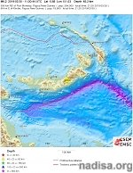 Strong and shallow M6.1 earthquake hits New Britain, Papua New Guinea
