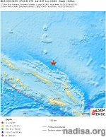 Shallow M6.1 earthquake hits off the coast of Solomon Islands