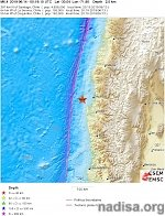 Shallow M6.3 earthquake hits off the coast of Coquimbo, Chile