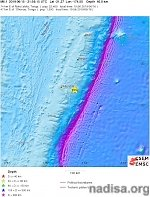 Shallow M6.1 earthquake hits off the coast of Tonga
