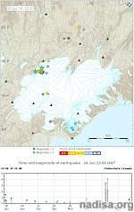 M4.1 earthquake after seismic swarm ESE of Bardarbunga volcano, Iceland
