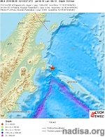 Shallow M6.4 earthquake hits Komandorskiye Ostrova, Russia region