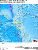 M6.0 earthquake hits Vanuatu at intermediate depth