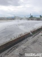 Wandan mud volcano erupts in Pingtung County, Taiwan