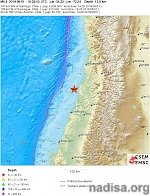 Strong and shallow M6.8 earthquake hits near the coast of O'Higgins, Chile