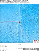 Shallow M6.0 earthquake hits Western Indian-Antarctic Ridge