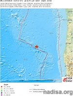 Very shallow M6.3 earthquake hits off the coast of Oregon, U.S.