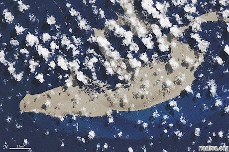 К Австралии плывет гигантская пемза