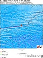 Shallow M6.3 earthquake hits east of the South Sandwich Islands