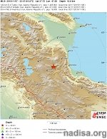 Shallow M5.9 earthquake hits Iran, at least 5 killed, 350 injured, 500 houses damaged