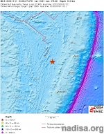 Shallow M6.1 earthquake hits Tonga