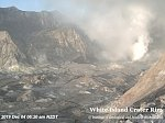 Explosive gas and steam-driven mud jetting continues at White Island's crater lake, New Zealand
