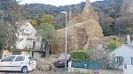 Huge boulders crash on houses in Les Mees, France
