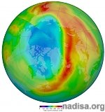 Rare, unusually large ozone hole develops over the Arctic-Canadian region