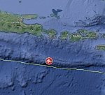 Strong and shallow M6.3 earthquake hits south of Bali, Indonesia