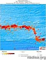Strong and shallow M6.9 earthquake hits central Mid-Atlantic Ridge