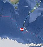 Shallow M6.1 earthquake hits Balleny Islands region, Southern Ocean